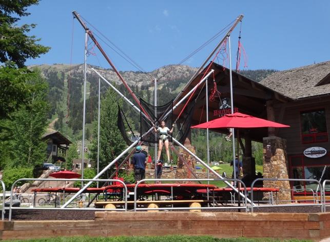 teton village bungee trampoline