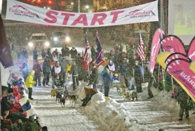 sled dog race start jackson hole wy