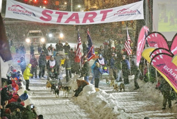 sled dog race start jackson hole wy