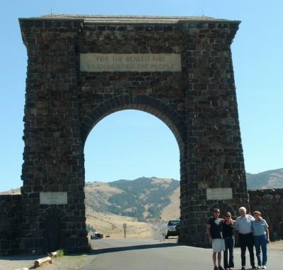 yellowstone entrance arch